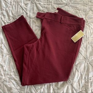 Michael Kors Wine Color Ankle Pant, Size 18W, NWT
